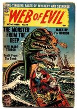 WEB OF EVIL #20-1954 SEA MONSTER-pre code horror-Comic Book - $100.88