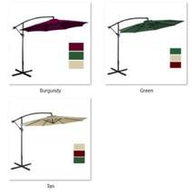 Offset 10' Garden Cantilever Patio Umbrella Aluminum Outdoor 8Rib 100% P... - $201.93 CAD+