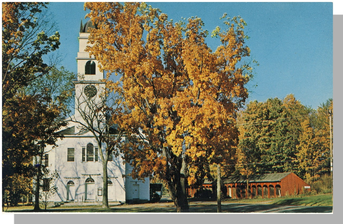 Lyme, New Hampshire/NH Postcard, Congregational Church
