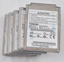 """LOT OF 5 Toshiba MK3006GAL 30GB Internal 4200RPM 1.8"""" HDD1442 for ipod l... - $44.50"""