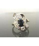 Vintage Style Art Deco 1.62ct Natural Blue Sapp... - $455.00