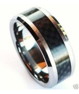 TU3051 Unisex Black Carbon Fiber Tungsten Carbi... - $19.99
