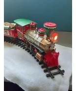 VTG North Pole Express Christmas Train Set Musical Locomotive Caboose Te... - $59.35