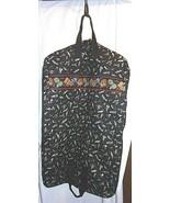 VERA BRADLEY Garment Bag Fishing LURES BLACK Retired Travel Rare Zipper ... - $115.78