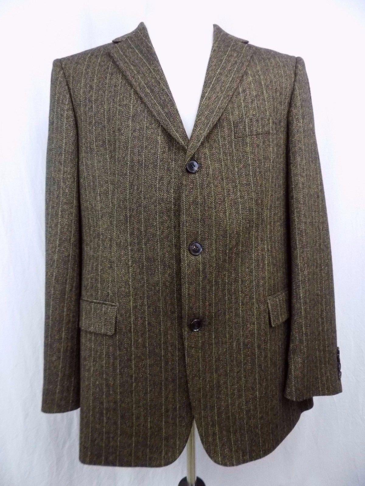 80d239b8 S l1600. S l1600. Previous. Hugo Boss Men Sport Coat Blazer Brown Tweed Wool  Blend Made in USA 44R 44 R