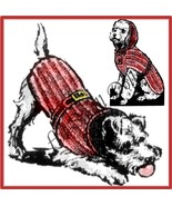 Dog's Knitted Coat Pattern Sizes 10,12,14,16 & 18 - $5.99