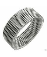 SSR527 Unisex Flexible Mesh Stainless Steel Ring  - $12.99