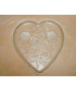 Mikasa Crystal Glass Heart Shaped Dish Platter Plate - $10.00