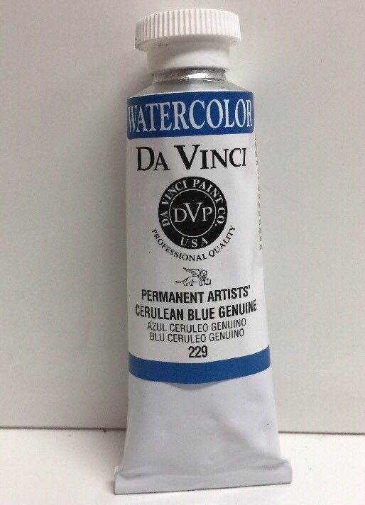 Primary image for (New) DA VINCI DAV229 ARTISTS WATERCOLOR PAINT - 37 ML - CERULEAN BLUE