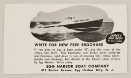 1948 Print Ad Jersey Sea-Skiff Boats Egg Harbor City,NJ - $10.18