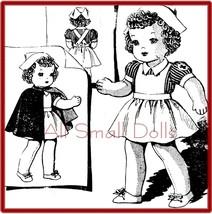 "Vintage Pattern for 18"" Cloth Doll in Nurse Uniform - $6.99"