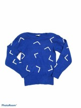 VTG Christian Dior Separates Blue Silk Blend Pull Over Sweater A Small F... - $49.49