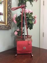 Coach Mini Crossbody Bag Legacy Leather 48005  Turnlock Carnelian Orange... - $79.19