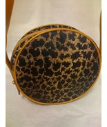 ANNE KLEIN II LEOPARD PILL BOX SHOULDER BAG - $27.99