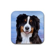 Rubber Coasters set of 4, Dog 125 Bernese Mountain art painting by L.Dumas - $10.99