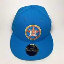 New Era Houston Astros Cap Spring Easter Logo 59Fifty On-Field Fitted 7 1/2 Hat - $37.95