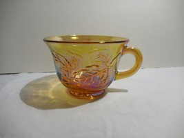 """Colony Harvest Carnival Amber Snack Punch Cup   2 3/8"""" Iridescent Grapes - $5.93"""