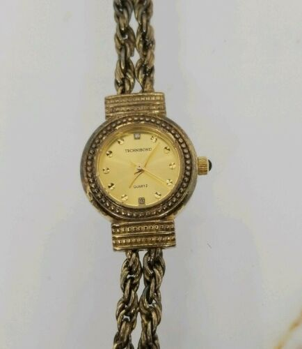 Vintage Tecnibond Ladies Watch Gold Rope Runs