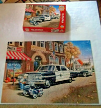 On the Beat Police 1000 Pc Puzzle Child Kiddie Car Coca Cola Sign Masterpieces - $14.84