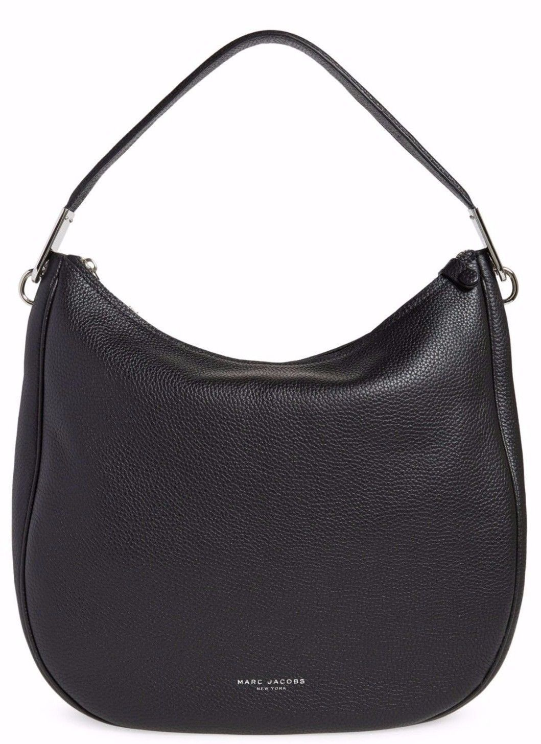 Primary image for NWT Marc Jacobs Pike Place Black Leather Hobo Shoulder Bag Purse $428 New