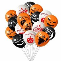 TUPARKA 100Pcs Halloween Balloons Decorations, 12 Inch Pumpkin Spider We... - £10.68 GBP