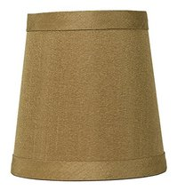 Urbanest Gold Mini Chandelier Lamp Shade, 3-inch by 4-inch by 4-inch, Hardback,  - $9.89