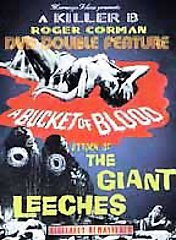 BUCKET OF BLOOD+GIANT LEECHES - Roger Corman - NEW DVD