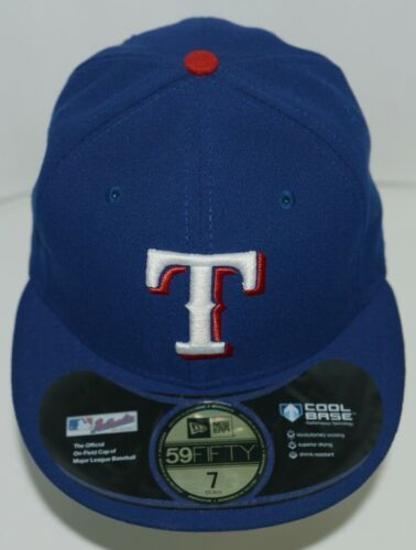 New Era CA40289 Texas Rangers Authentic On Field MLB Fitted Cap Blue Size 7