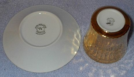 Royal Worcester Gold Cup and Saucer 1