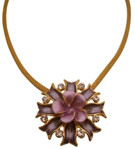 Attention Grabbing lilac & purple flower Pendant - $14.68