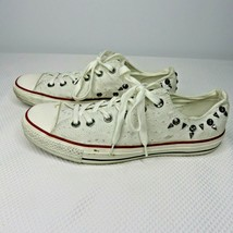 Converse Chuck Taylor Ox Egret White Studded 547283C Women's 10 Low Snea... - $69.25
