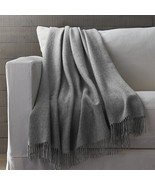 Crate&Barrel Brand New 100% Alpaca Wool Gray Throw Made in Peru  - $158.39