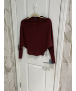 Fashion Nova Women's Off With His Head Burgundy Sweater Top Size Extra S... - $11.95