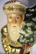 Vaillancourt Folk Art Santa in Gold with Tree Signed by Judi Vaillancourt image 3