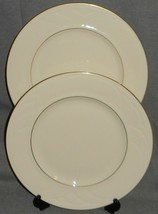 Set (2) Lenox GOLDEN SAND DUNE PATTERN Dinner Plates MADE IN USA - $79.19