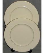 Set (2) Lenox GOLDEN SAND DUNE PATTERN Dinner Plates MADE IN USA - $79.19