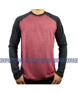 Affliction Standard Release A10532 Long Sleeve Red/Black Raglan T-shirt ... - $50.67