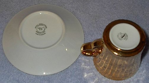 Vintage Royal Worcester Gold Cup and Saucer #2