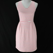 Old Navy Sleeveless Dress Womens S Pink White Stripe V Neck Cotton Blend... - $17.99