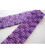 "Bracelet: Hand Woven Purple Checkerboard, ""Hip To Be Square""  - $32.00"