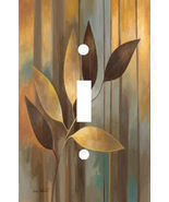 GOLD LEAF AUTUMN ELEGANCE LIGHT SWITCH PLATE COVER - £4.46 GBP