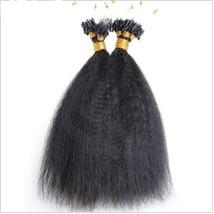 Micro Loop Human Hair Extensions Kinky Straight Micro Loop Ring Hair 100g / Pack - $62.30+