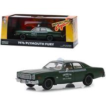 1976 Plymouth Fury Taxi Checker Cab 069 WO. 3-7000 Metallic Green Beverl... - $31.10