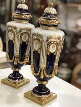 2 Of Antique Rare Old German Porcelain Vase Multi Color 1881-1890 Centur... - $2,500.35