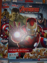 Kellogg's Marvel Avengers Age of Ultron Cereal Empty Box Hero Edition 2016 - $3.99