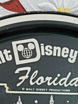 "Vintage 1970's Walt Disney World Florida Round Tin Metal Tray Souvenir 11"" image 2"