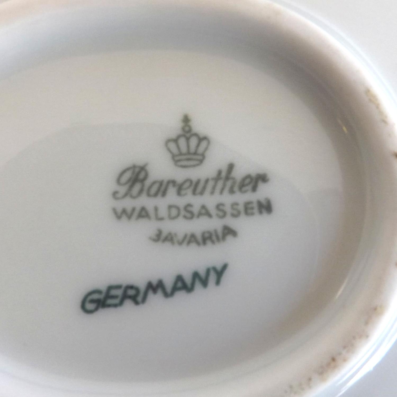 Bareuther Waldsassen Gravy Boat with Plate Bavaria Pattern Fine China (Germany)