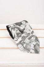 Three Stooges Ralph Marlin Tie Vintage Mens Necktie 1994 Black White Antics - $19.79