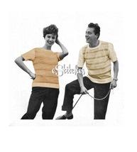 1950s Boyfriend and Girlfriend T-shirt Sweater - Knit pattern (PDF 4273) - $3.75