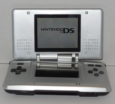 Nintendo DS Silver Original Handheld Video Game Console Broken Hinge Sti... - $51.43